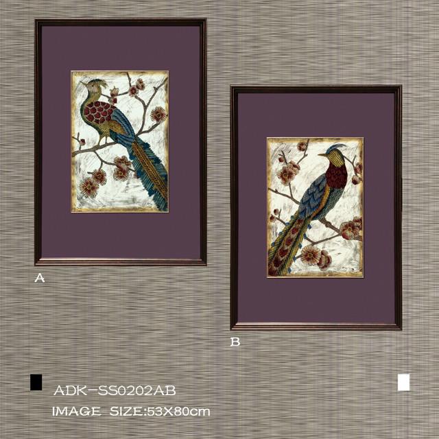 欧式美式装饰画花鸟挂画adk-ss0202ab