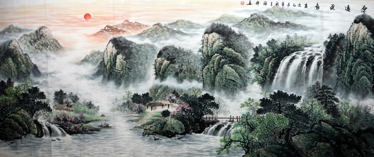 山水画挂在家中无疑是个不错的选择,中国山水画历史悠久,作为中国画图片