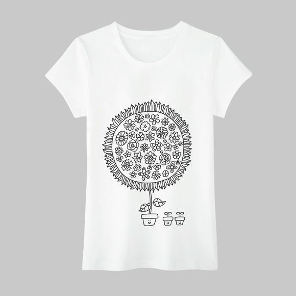 韩国秘密花园 创意手绘填色t恤,多款图案可选,亲子装系列