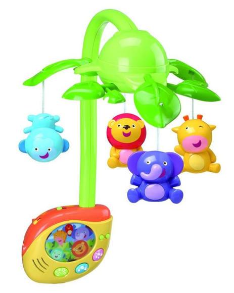在轻柔的音乐中慢慢旋转,组成了一副美丽的森林动物大会,促进宝宝视觉