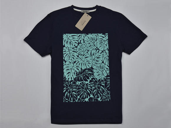百品汇荷叶图案蓝紫色t恤