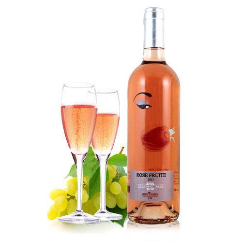 法国 原瓶原装进口 梵特斯 520半甜桃红葡萄酒 红酒