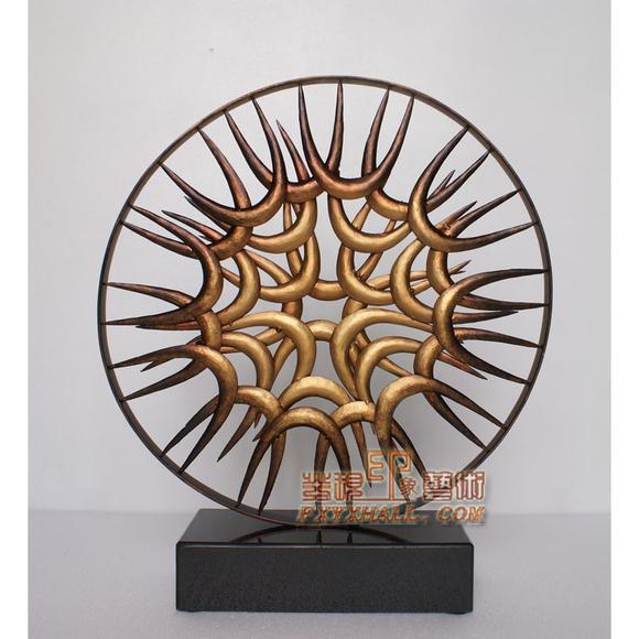钢铁雕塑抽象现代工艺品客厅玄关摆件艺术家居酒店软装饰金属摆设