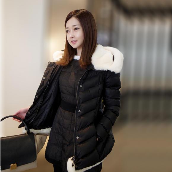 一女4电�M\9�9�ay.�_【骑】2015女款棉衣 羽绒棉服中长款 修身时尚棉袄外套女ay-9