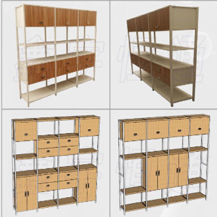 钢木结构货架(1800*3010*700)