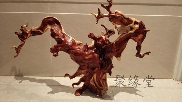 根雕木雕工艺品滇金丝红木花架毛笔挂架随形手把件摆件支架纯天然