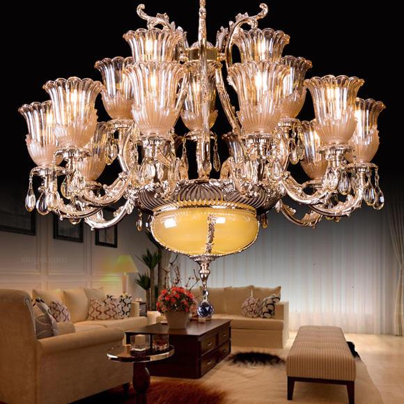 歐式美式現代吊燈客廳吸頂燈大氣水晶燈臥室餐廳美居工坊28022
