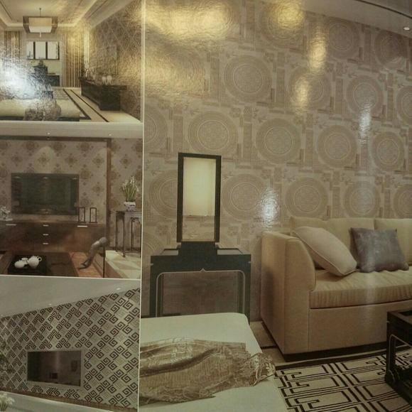 新中式墙布图片