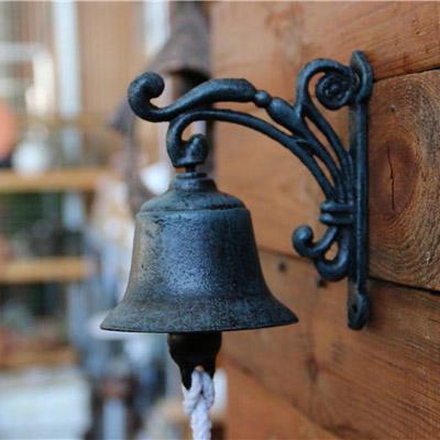 铸铁小铃铛绿色铃铛花园摆件门铃欧式仿古铃铛复古装饰摆件
