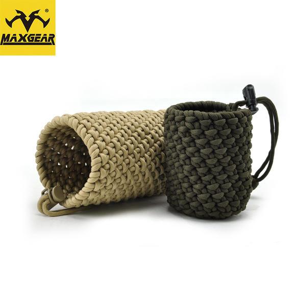 马盖先 盘龙s3 纯手工编织水杯套 伞绳编制多用水杯水壶套