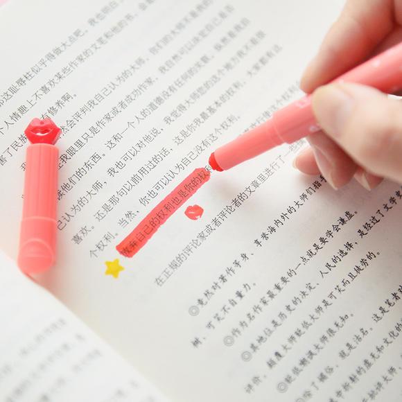 可爱印章荧光笔 果冻创意糖果色 文具