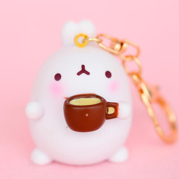 超萌可爱兔子 卡通钥匙圈 创意胖兔子钥匙环挂件包包挂饰钥匙链