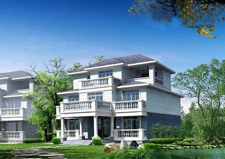 【312】新农村三层房屋设计图116.76平米(长12.24*宽9图片