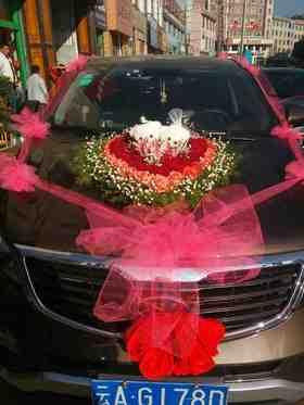 心型婚车一一图片