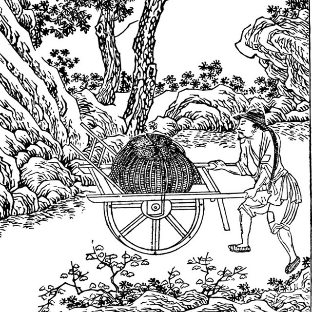 中医作坊矢量图