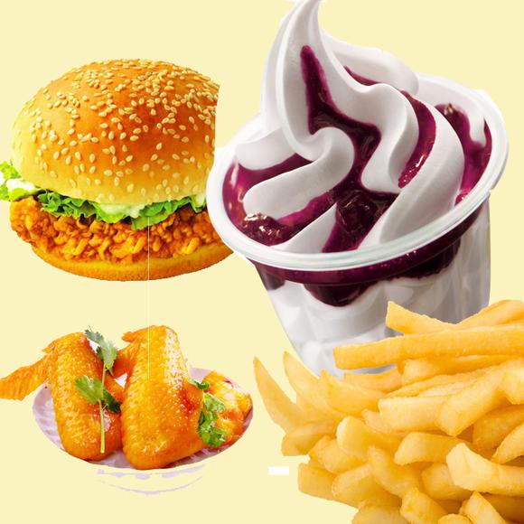 【欢乐儿童套餐】汉堡+圣代+鸡翅+薯条图片