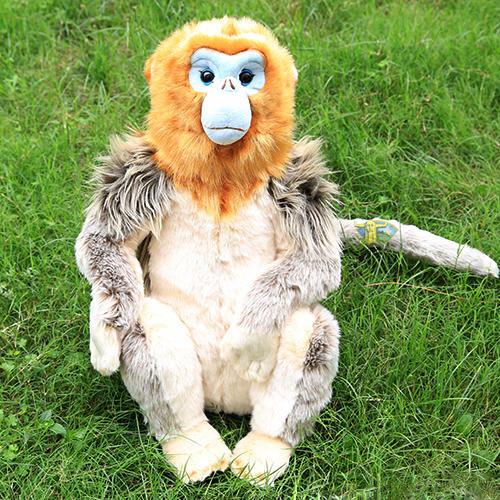 金丝猴子是什么颜色_荆楚神猴毛绒玩具神农架仿真金丝猴子公仔女生玩偶生日礼物萌包邮