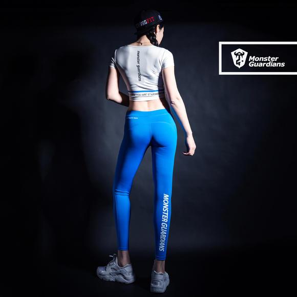 monster guardians mg终极科技系列女子运动紧身裤显痩瑜伽健身裤