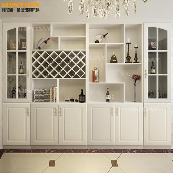 赛尼迪定制酒柜 定做欧式田园玄关柜隔断柜 郑州定制定做全屋家具