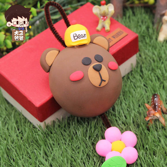 超轻粘土 萌萌小兔挂件车饰儿童手工diy制作材料包橡皮泥幼儿园