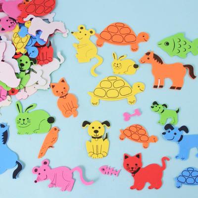 儿童手工制作eva立体贴画diy贴纸 动物海绵贴片 粘纸
