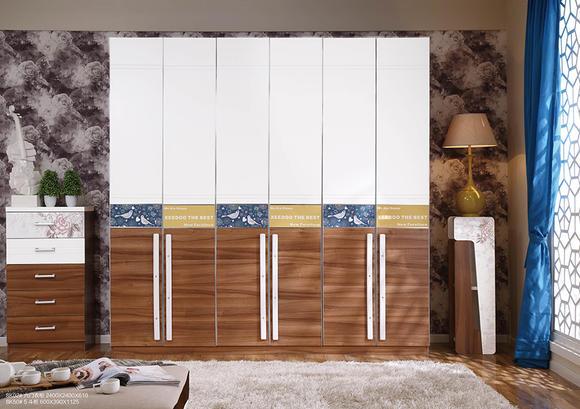 8k02六门衣柜 - 喜之岛家具
