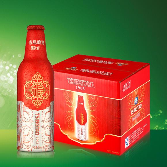 青岛啤酒 鸿运当头啤酒355ml*12瓶高端喜庆礼盒新春送礼啤酒