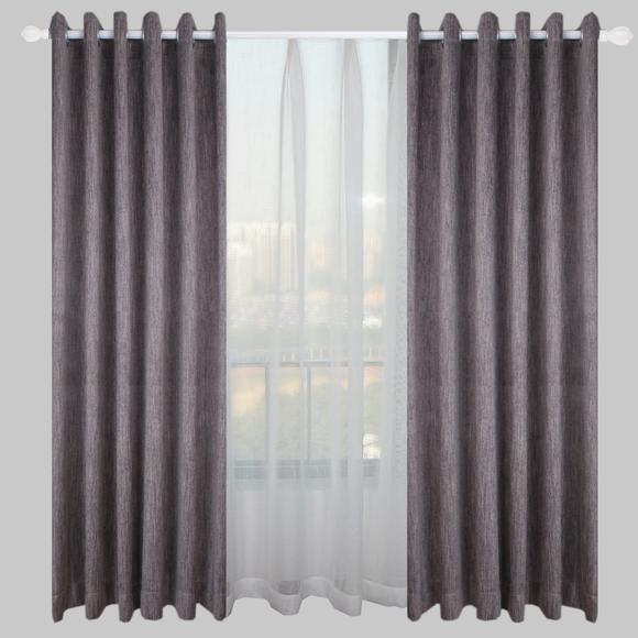 灰色窗帘拼接款效果图