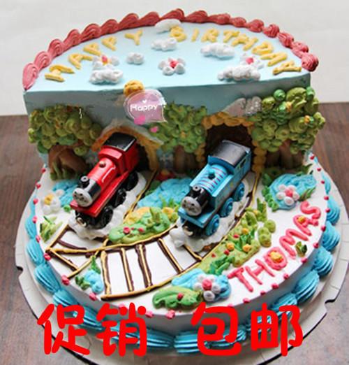 特价 蛋糕装饰摆件 木头托马斯和他的小伙伴 火车头 3