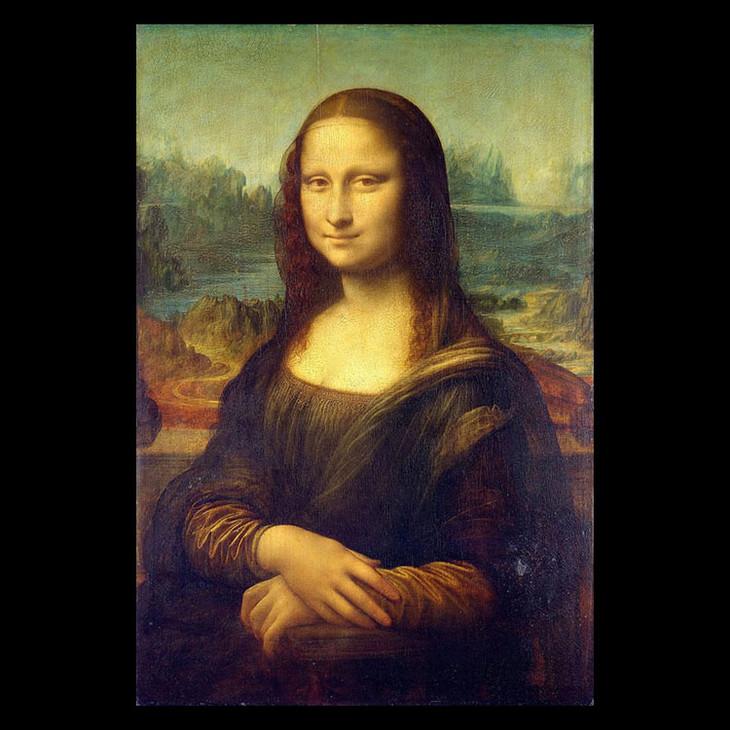 猫与名画《 蒙娜丽莎的微笑》 达芬奇 卢浮宫图片