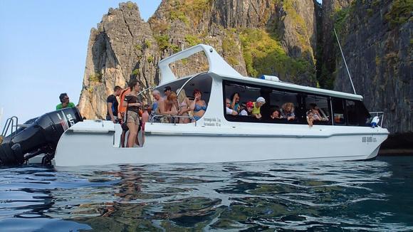 唐人接泰国 皇帝岛 珊瑚岛双体快船懒人一日游 普吉岛