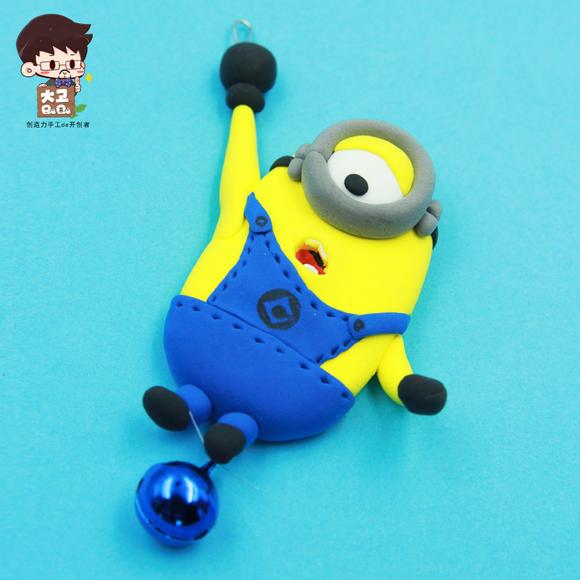 超轻粘土 小黄人风铃儿童手工diy制作材料包幼儿园橡皮泥黏土玩具