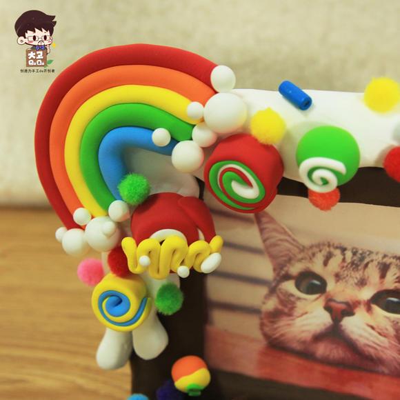 超轻粘土 甜美果果相框儿童手工diy制作彩泥材料包橡皮泥创意玩具