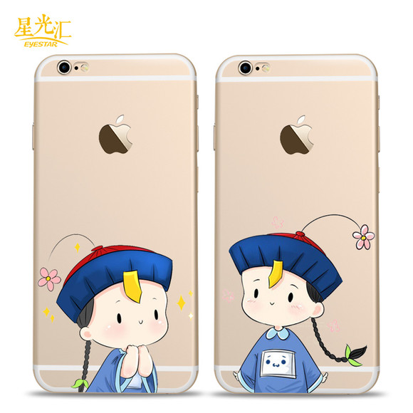 动态6s手机壳小僵尸硅胶表情软壳iphone6卡早晨好的表情苹果包图片