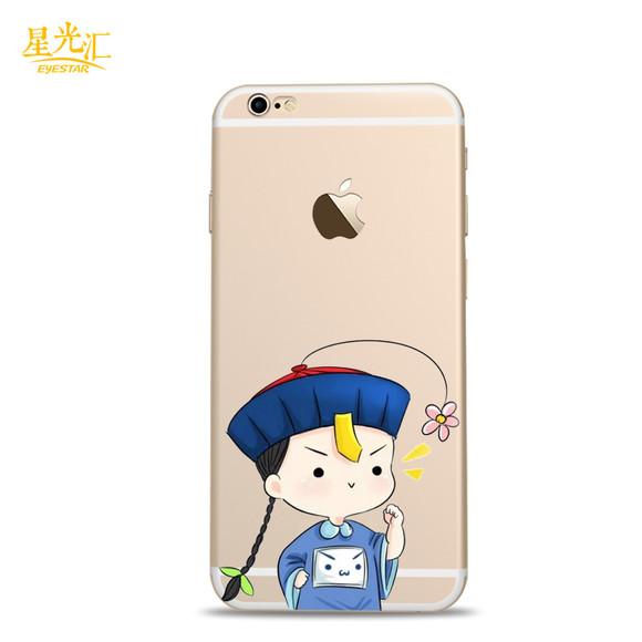 舌头6s手机壳小苹果口水硅胶软壳iphone6卡的僵尸表情带着表情包图片