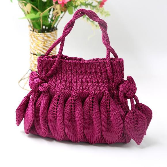 叶子花包包新款树叶包包手编包零钱包手机包小辛娜娜编织材料包材料包