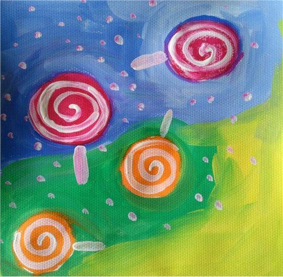 《漂亮棒棒糖》儿童创意美术课程三