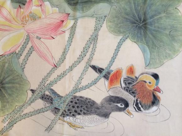 丝巾图案获奖作品手绘