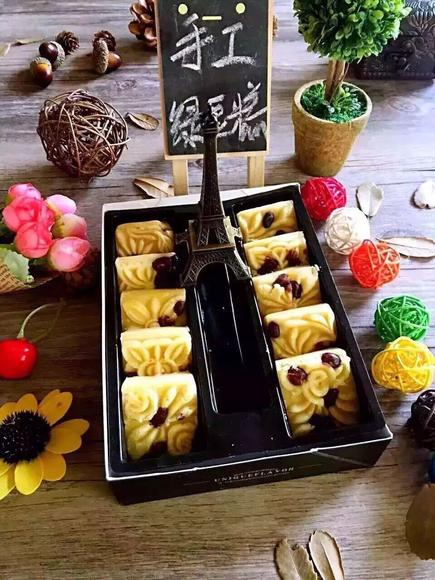 海藻糖绿豆糕无添加糕点传统手工绿豆糕制作礼盒装解暑