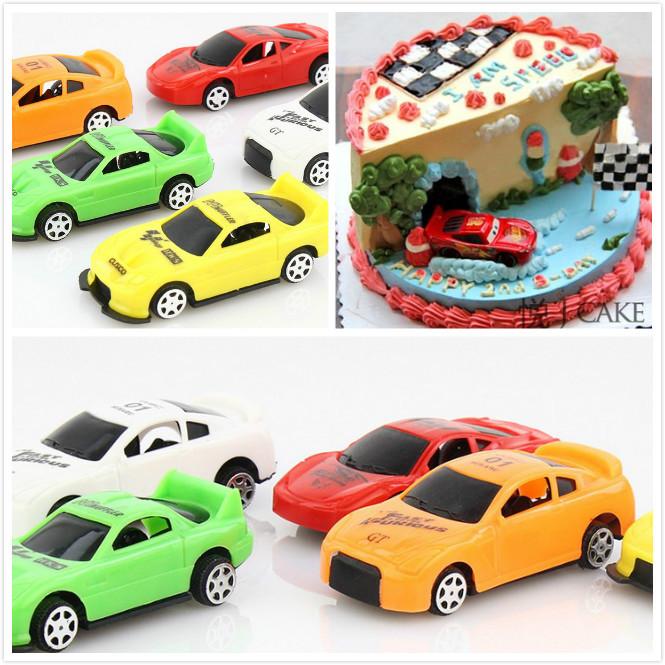 情景蛋糕装饰 烘焙汽车总动员 小汽车小赛车装饰摆件