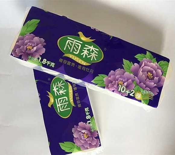 雨森牡丹10 2卫生纸12卷×6/袋