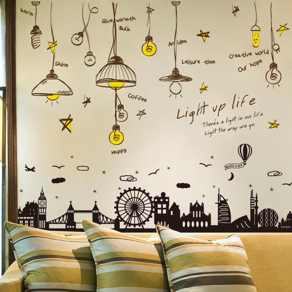 墙贴纸贴画宿舍寝室墙面墙壁装饰品创意欧式温馨客厅墙上卧室餐厅