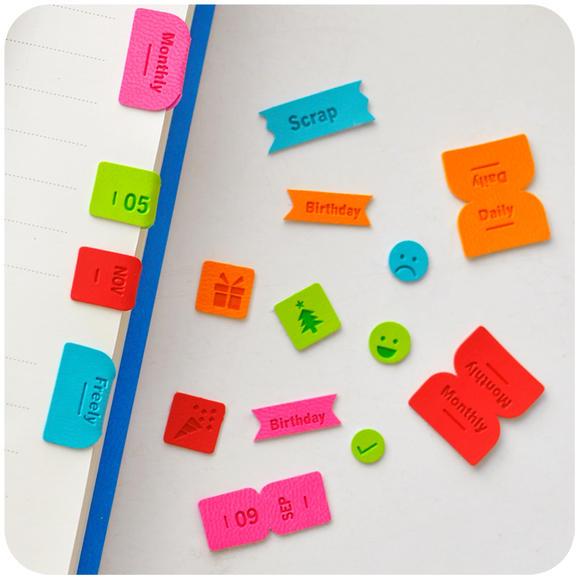 韩国立体数字日期装饰小手账 可爱表情diy日记本手帐标记日历贴纸