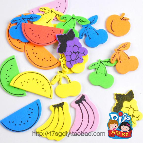 eva背胶水果贴片 热卖立体手工eva粘贴制作幼儿园材料