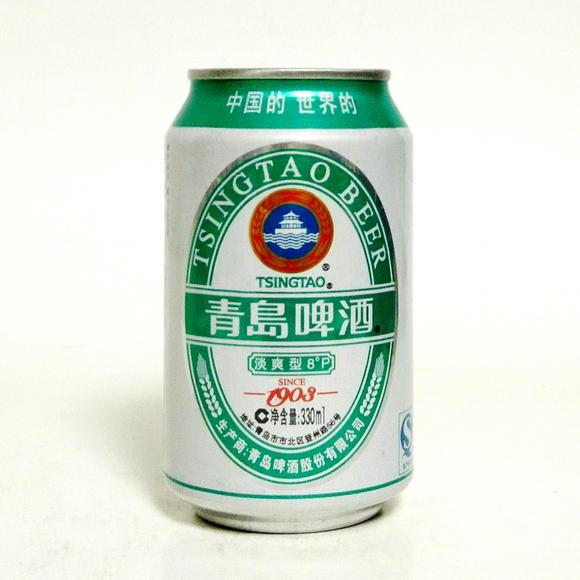 青岛啤酒淡爽型8度330ml中国的世界的经典1903铝罐