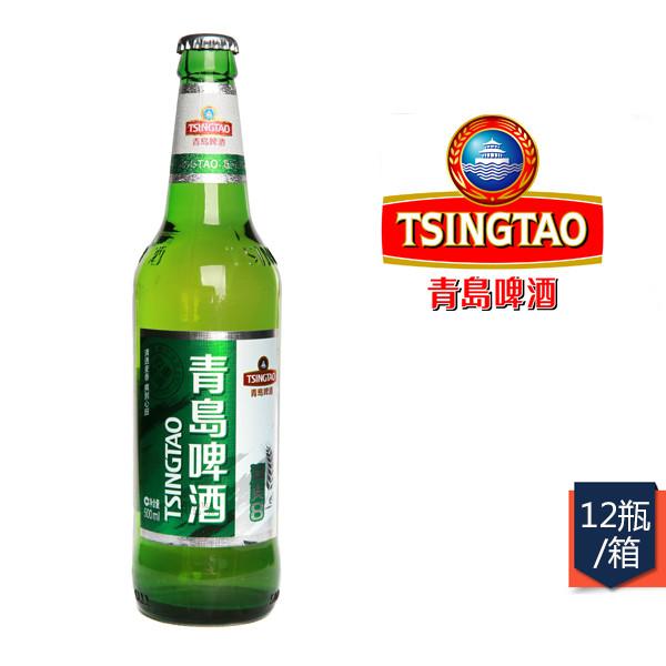 青岛8度清爽啤酒 瓶装500ml*12瓶/箱