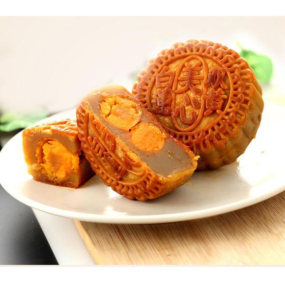 香港美心月饼双黄白莲蓉月饼港式中秋国庆双节蛋黄月饼礼盒图片