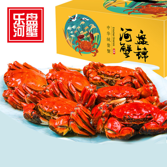 【盘锦河蟹】大闸蟹6只甜品装2.6母蟹4只3.5菜谱广东礼盒图片