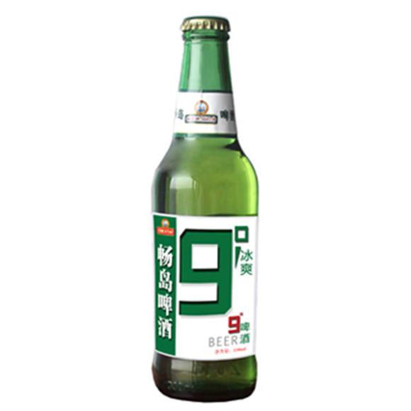 青岛9度 冰爽 瓶装 九度 啤酒 500毫升