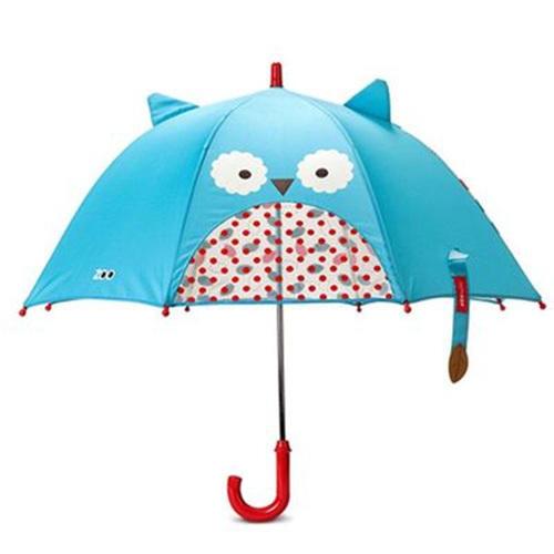 skip hop动物园系列幼儿园儿童卡通长柄雨伞立体耳朵